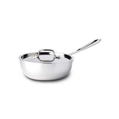 All-Clad Tri-Ply Stainless Saucier - 2 qt