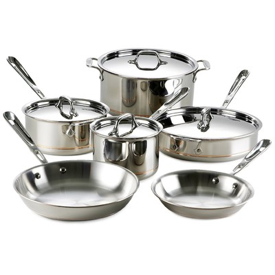 All-Clad Copper Core Cookware Set - 10 pcs