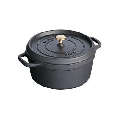 Staub French Oven - Round - 4.6 L - Black