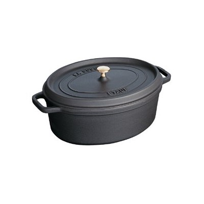 Staub French Oven - Oval - 4.2 L - Black