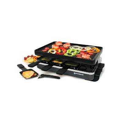 Swissmar Classic Raclette with Grill - Cast Iron - Black