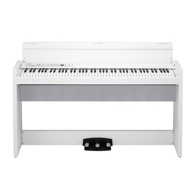 Korg LP-380 RH3 88-Key Digital Piano - White, Real Weighted Hammer Action - Korg - LP380-WH