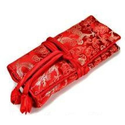 Silk Jewelry Travel Organiser - Red Color
