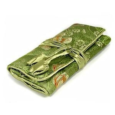 Silk Jewelry Travel Organiser - Green Color