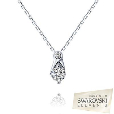 Swarovski® Embellished Double Round Cut Crystal Pendant.