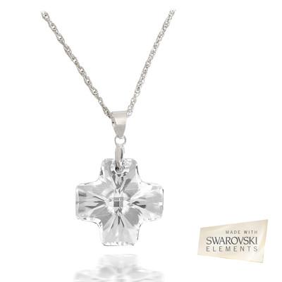 Swarovski® Embellished Crystal 19.5mm Cross Pendant.