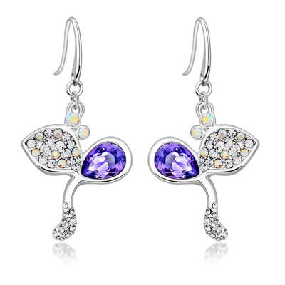 Swarovski® Embellished Tanzanite Crystal Earrings