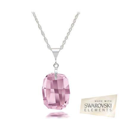 Swarovski Elements Crystal Amethyst Sterling Silver Pendant