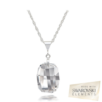 Swarovski Elements Crystal Sterling Silver Pendant