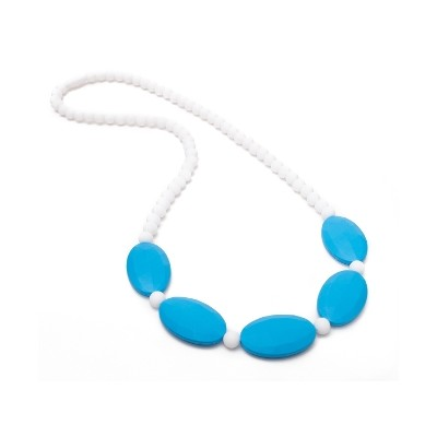 Trendy Chic Teething Necklace - Blue & White