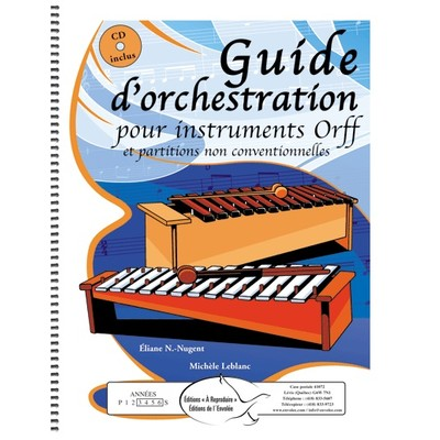 Music Guide dorchestration pour instruments Orff (repro)