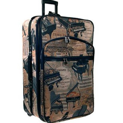 """Suitcase Aim 24"""" Expandable Rolling  Piano Tapestry - Aim - 49576"""