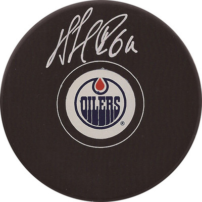 Nail Yakupov Autographed Puck