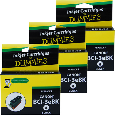 3 Pack of For Dummies - Canon BCI-3e Black Inkjet Cartridge (4479A003AA)