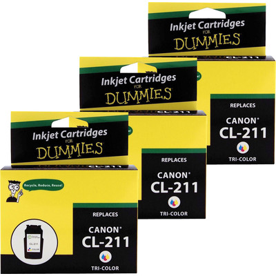 3 Pack of For Dummies - Canon CL-211 Tri-Color Inkjet Cartridge (2976B001)