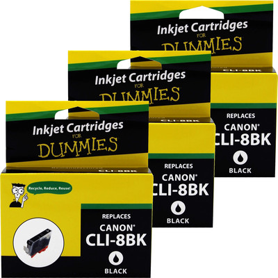 3 Pack of For Dummies - Canon CLI-8 Black Inkjet Cartridge (0620B002AA)
