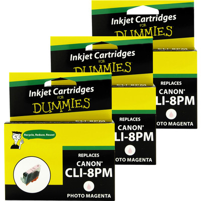 3 Pack of For Dummies - Canon CLI-8 Photo Magenta Inkjet Cartridge