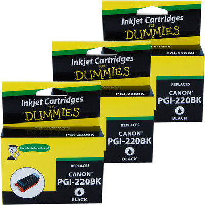 3 Pack of For Dummies - Canon PGI-220 Black Ink Cartridge (2945B001)