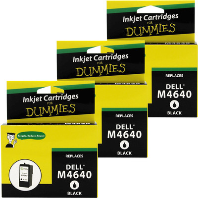 3 Pack of For Dummies - Dell M4640 Black Inkjet Cartridge 922 924 942 944 946 962 964  (5 series)