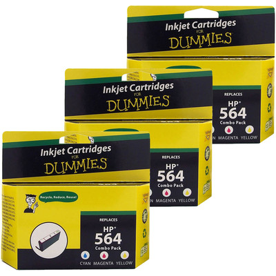 3 Pack of For Dummies - HP 564 Color Combo Inkjet Cartridge (CD994FN) 3 Pack (Remanufactured)