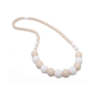 Boutique Chic Teething Necklace - Creme & White