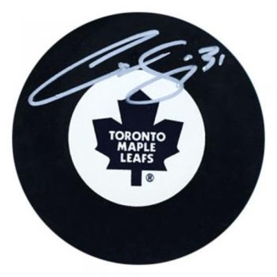 Curtis Joseph Autographed Toronto Maple Leafs Puck