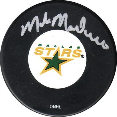 Mike Modano Autographed Dallas Stars Puck