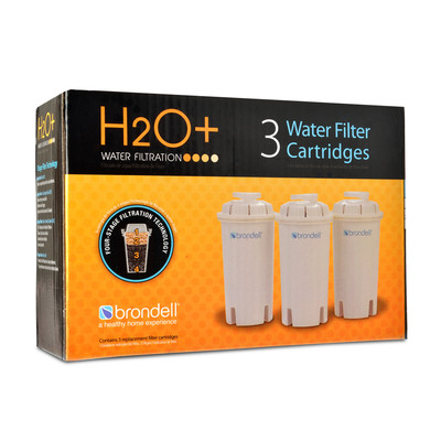 H2O+ Water Pitcher Filter-Pack of 3