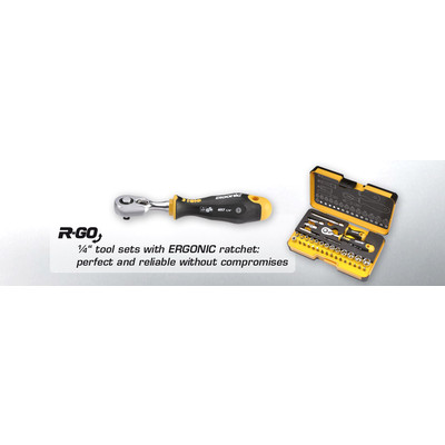 Felo R-GO 36 Pc tool set with ERGONIC ratchet.