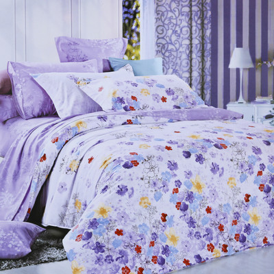 North Home Pansy 100% Cotton Sheet Set
