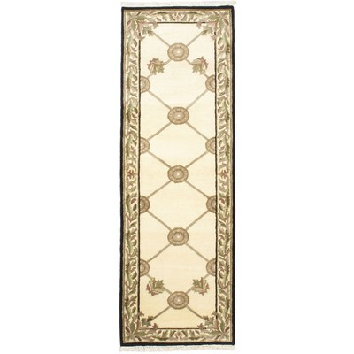 "eCarpetGallery Hand-knotted Opulence Gray Rug - 2'6"" x 7'7"""