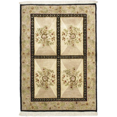 "eCarpetGallery Hand-knotted Opulence Beige Rug - 4'0"" x 5'10"""