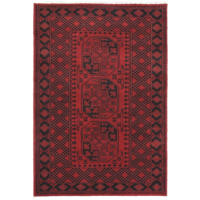 "eCarpetGallery Hand-knotted Zara 4'1"" x 6'0"" Rug - Red"