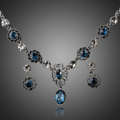 Silver Plated Deep Blue Jewellery Set