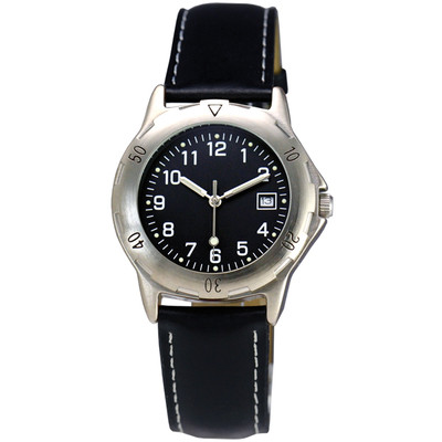 MATSUDA Watch Muscular Men - Black with Leather Strap