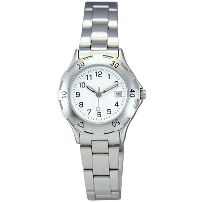 Matsuda Watch Muscular Ladies - Silver Metal Strap with White Dial