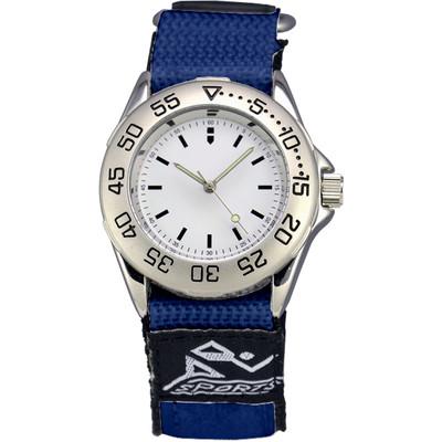 Matsuda Athletic Watch Nylon Strap Blue - Men