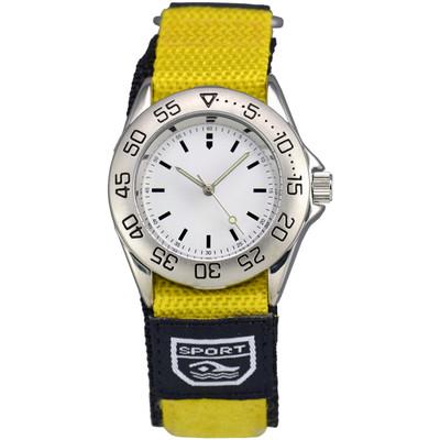 Matsuda Athletic Watch Nylon Strap Yellow - Ladies