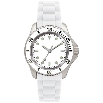 Matsuda Watch Flashy Silicon Strap - Unisex Small Size White