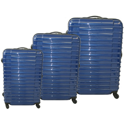 Light Weight 3 Pc Polycarbonate Set Blue