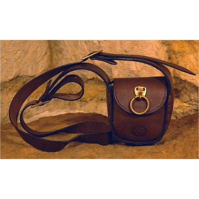 Handmade Leather and Brass Combination Pochette Style Bag  - Sweet Girl - for Ladies from Sami Amin