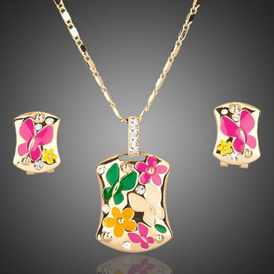 18K Gold Plated Butterfly Jewellery Set