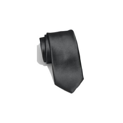 2 X Casual Stylish Slim Necktie (Skinny Tie) - Dark Gray Color