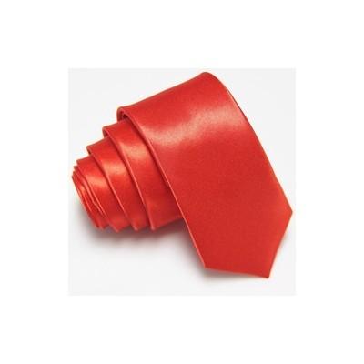 2 X Casual Stylish Slim Necktie (Skinny Tie) - Red Color