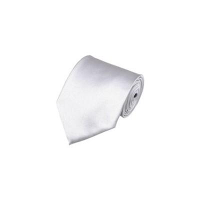 2 X Casual Stylish Slim Necktie (Skinny Tie) - Silver Color
