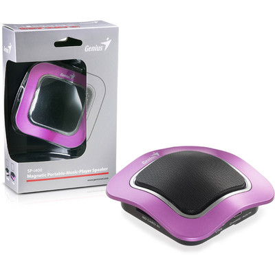 Genius Magnetic Portable Music Player Speaker (SP-i400 PUR) (GN-SK01-I400 PUR)