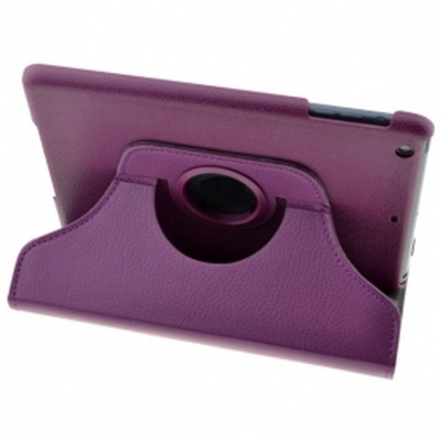 360 Rotating iPad Mini PU Leather Case - Purple Color