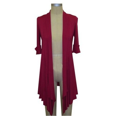 Hilary Radley New York short sleeve cardigan - Magenta color