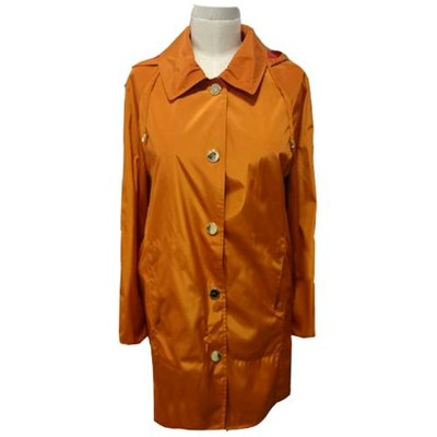 Hilary Radley New York snap front windbreaker - Orange