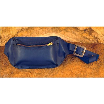 Handmade Leather Belly Bag with a Zipper Closure from Sami Amin